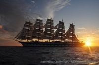 Royal Clipper at Sunset